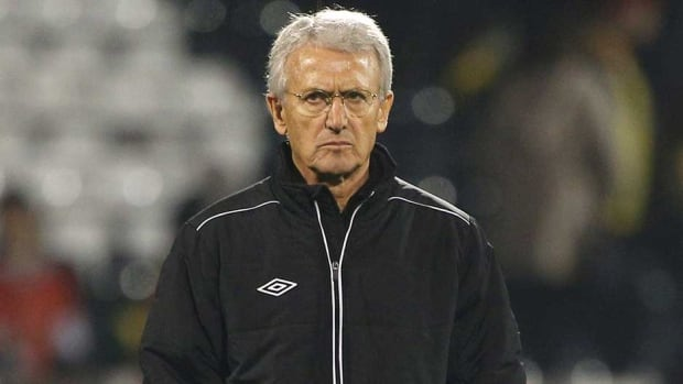 Canada manager Benito Floro looks on during the international friendly against Australia last week in London, England.