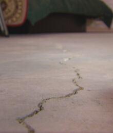 Basement cracks