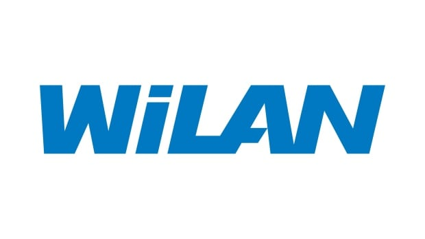 The corporate logo of patent licensing company Wi-Lan Inc. is shown. A jury rejected its patent infringement case against Apple on Wednesday.