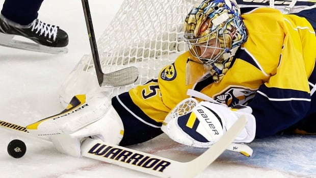 Predators goalie Pekka Rinne will have arthroscopic surgery on his hip. He has a 4-4-1 record this season with a 2.31 goals-against average and .917 save percentage.