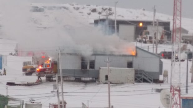 An office building in Igloolik housing the income support office, the hamlet's probation officer and government liaison officer caught fire Thursday.