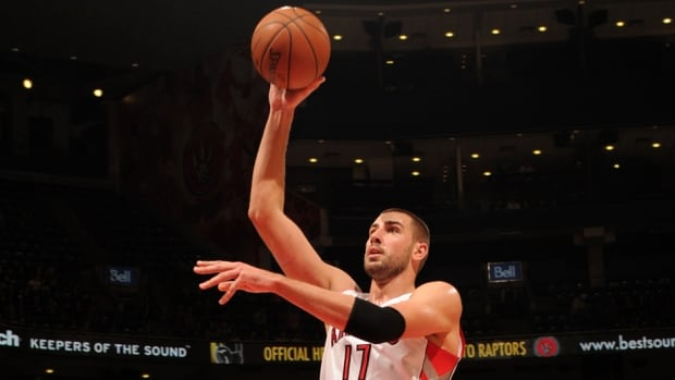 Toronto Raptors 7-footer Jonas Valanciunas averaged 8.9 points last season.