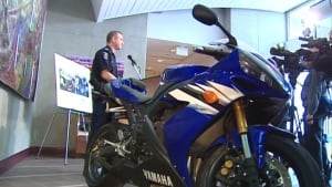 Speeding motorcyclist video - police press conference