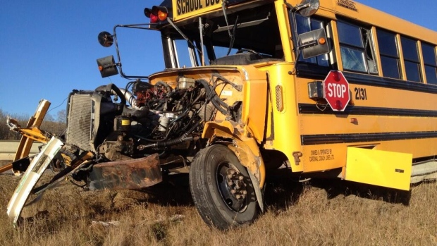 Ten people were on the bus, nine students and one driver. All were taken to hospital after the Oct. 25 crash.