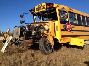 School bus Alberta crash