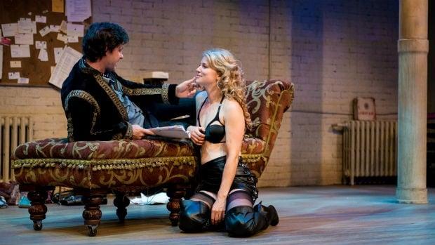 Allison Brennan as Vanda & Matthew Edison as Thomas in Venus in Fur.