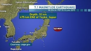 Japan tsunami advisory Oct. 25