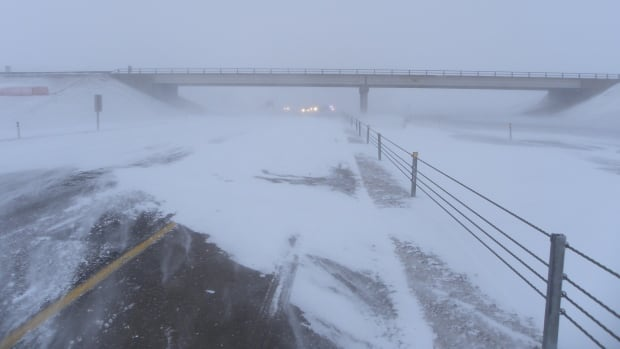 RCMP are warning drivers to take precautions in winter weather, after several accidents during a previous winter storm on Highway 2 near Airdrie.