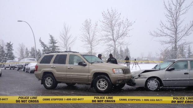 Police say the person driving the gold SUV is a person of interest in connection to an incident in which shots were fired at homes and cars in southeast Calgary.