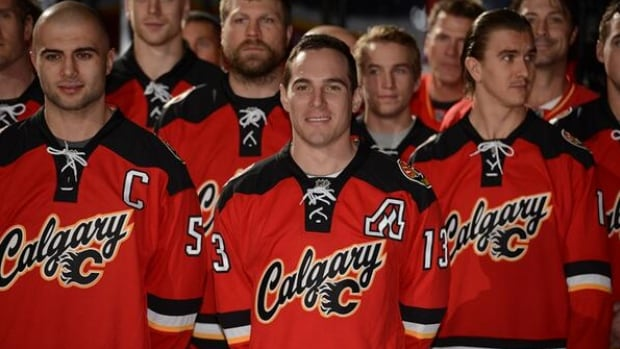 Calgary Flames fans got a glimpse of the team's new third jersey Sunday in an event at the Saddledome.