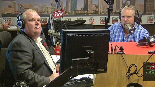 Mayor Rob Ford and Coun. Doug Ford on Newstalk 1010
