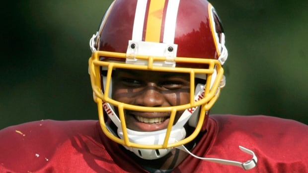 Former Redskins safety Sean Taylor died Nov. 26, 2007, after being shot. A nine-millimetre bullet allegedly pierced Taylor's upper right thigh, severely damaging the artery, and then lodged in his left thigh. A medical examiner testified Monday that Taylor died of massive blood loss from a damaged femoral artery.