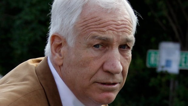 Former Penn State assistant football coach Jerry Sandusky arrives at the Centre County Courthouse in Bellefonte, Pa., in this June 2012 photo. A Pennsylvania appeals court ruled Oct. 2 that he should not get a new trial after being convicted of sexually abusing 10 boys.