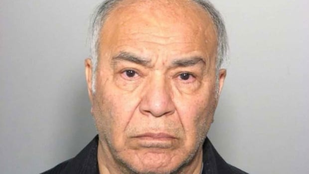 Police say Antony Piazza, 71, was carrying a bag that contained components for making an explosive device.