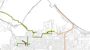 Pipelines in Hamilton's lower city