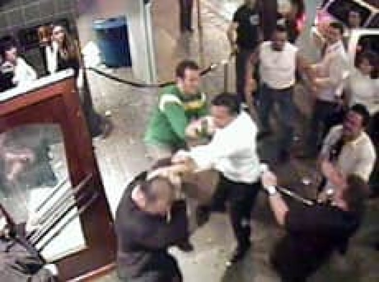Surveillance video shows attack by alleged Hells Angels