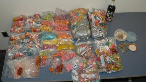 Police in Chester County, Pa., discovered 18 kilograms of drug-laced candy at an on-campus apartment at West Chester University.