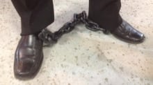 Gatineau protest shackles