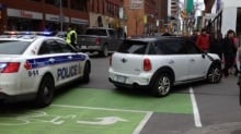 Pedestrian struck at Bank and Laurier (Oct. 30, 2013)
