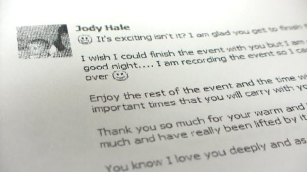 Jody Hale love letter email