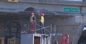 Ladner Trunk Road overpass repairs