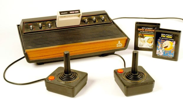 The Atari 2600 brought arcades classics like Pac-Man and Space Invaders into the home.
