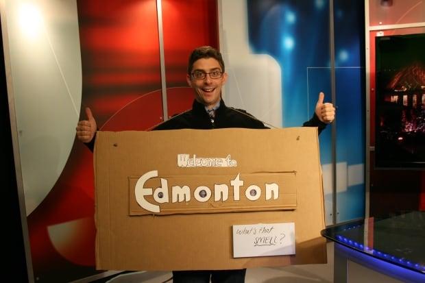 City of Edmonton sign costume