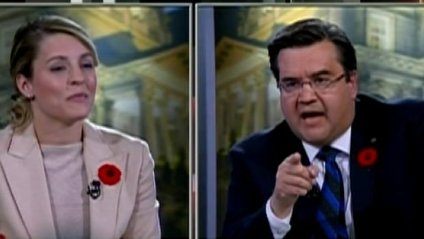 Mayoral candidates Denis Coderre and Mélanie Joly went head-to-head in the final debate on the TVA television network.