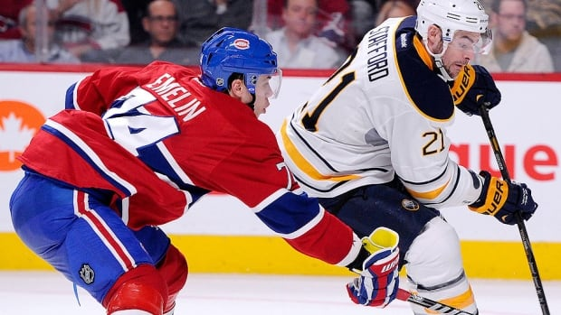Canadiens defenceman Alexei Emelin, left, scored three goals and 12 points in 38 games last season while adding 110 hits, 47 blocked shots and a plus-2 rating.