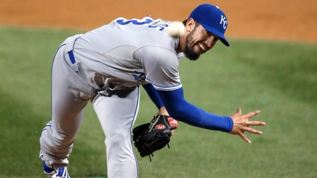 Kansas City Royals starting pitcher James Shields went 13-9 with a 3.15 ERA and an AL-leading 228 2-3 innings.