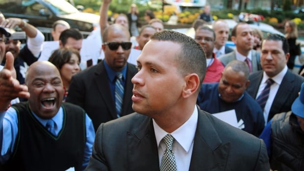 New York Yankees' Alex Rodriguez was suspended on Aug. 5 for violations of the MLB's drug agreement and labour contract and was allowed to keep playing pending a determination of the grievance.