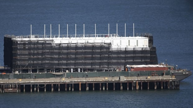 When Google's barge first appeared at Pier 1 of Treasure Island in San Francisco Bay last fall, there was a lot of speculation about what it might be.