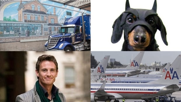 Clockwise from top left: Vanier was in the Ottawa morning spotlight Friday; an Ottawa dog got his day on Halloween; American Airlines announced a change; and the NAC brought in a fresh new face.