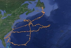 nl ocearch lydia tracking map 20131101