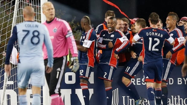 The New England Revolution snapped a 501-minute regular season goal drought against Sporting Kansas City, a streak that reaches back to the 2011 season.