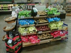 Coloured potatoes