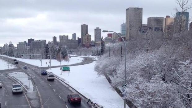 While not the 15 centimetres forecast, Edmonton received several centimetres of snow overnight Saturday.