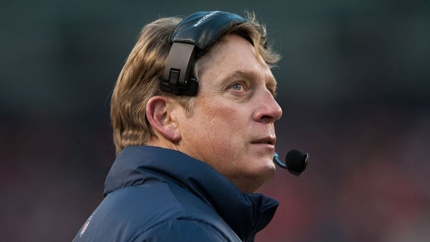 Jack Del Rio, pictured here, will remain Denver's defensive co-ordinator while running the team for several weeks while head coach John Fox recovers from heart surgery.
