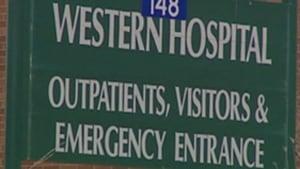Western Hospital sign