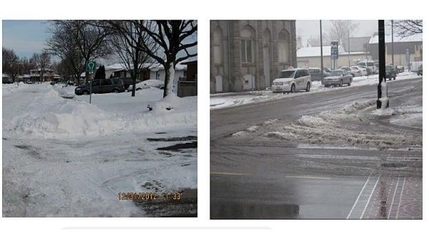 The right image shows the city's new standard when it comes to snow removal.