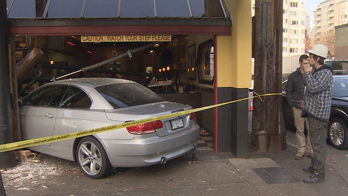 Car Crashes Through Restaurant