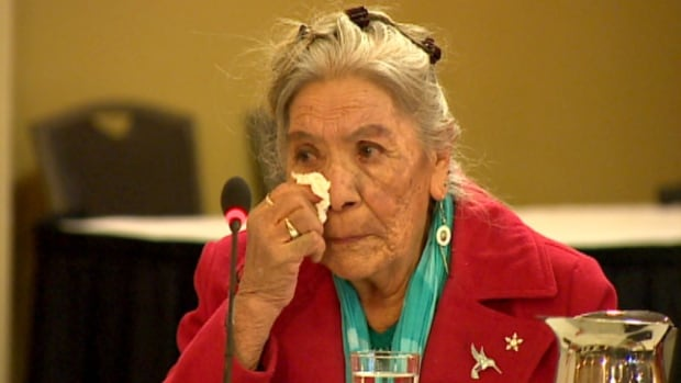 Residential school survivor Victoria Crowchild described her abuse at residential schools during a two-day hearing in Calgary.