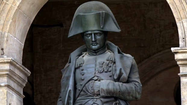 By the time he wrote his will, the once-feared general who conquered half of Europe,  whose statue is shown at the Hotel des Invalides in Paris, had few possessions to his name. The will the former French emperor wrote just 19 days before his death while living in exile on the island of Saint Helena will be auctioned off in Paris Wednesday.
