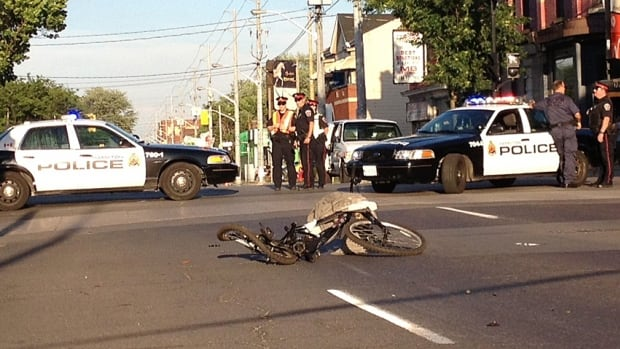 A bicycle lays crumpled at the corner of Cannon and James North last year. Hamilton has the second highest rate of pedestrian deaths in the province, new research shows, and a higher percentage of pedestrian and bicycle injuries than the province.