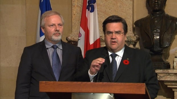 Montreal mayor-elect Denis Coderre (right) says his meeting with Quebec minister Jean-François Lisée was filled with 'mutual respect'.