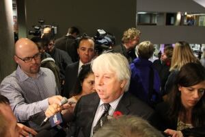 Coun. John Filion speaks to reporters