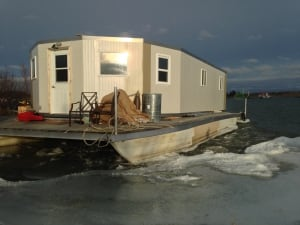 Randy Sibbeston's houseboat