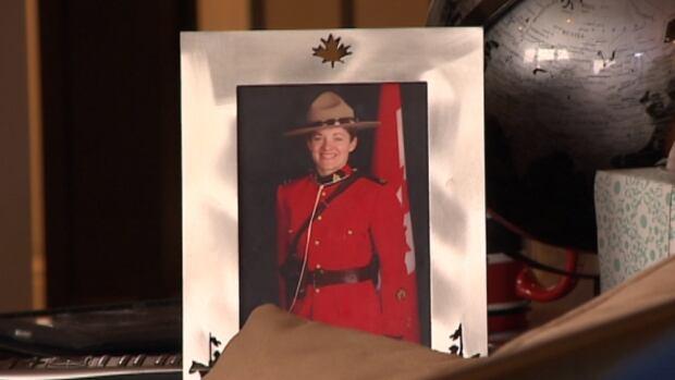 Kristine Lacelle in RCMP uniform