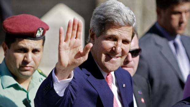 U.S. Secretary of State John Kerry is in the West Bank city of Bethlehem to help restart faltering Israeli-Palestinian peace talks. He said on Wednesday he is optimistic that tensions and difficulties could be overcome, even as both sides traded barbs about who is to blame for the current poor state of negotiations.