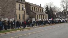 Thousands protest pension reforms at legislature